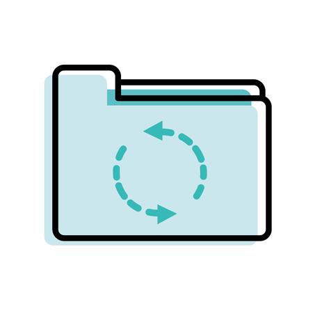 moved color folder file loading business archive vector illustration