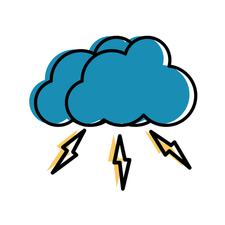 moved color nice nature cloud thunder weather in the sky vector illustration