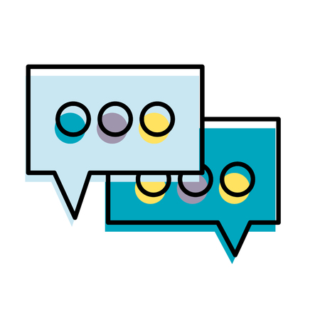 moved color chat bubbles text message idea vector illustration