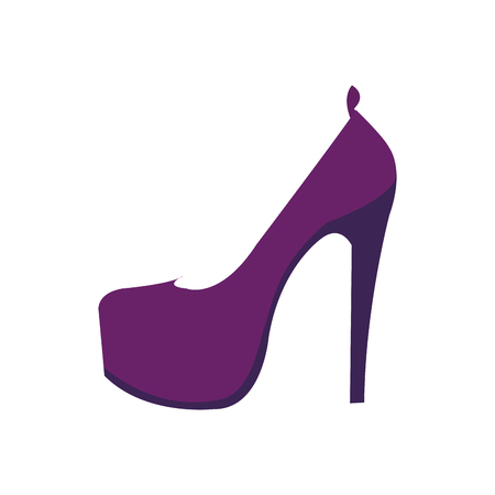 colorful woman fashion heels high shoes vector illustration