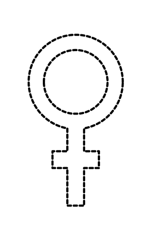 dotted shape women sex gender graphic sign vector illustration