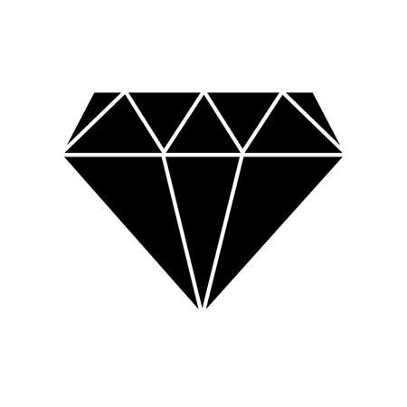 Silhouette diamond precious crystal gem stone Illustration