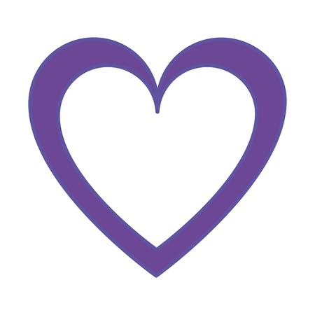 Duo color heart love symbol of passion design  イラスト・ベクター素材