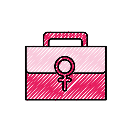 First aid kit with women sign