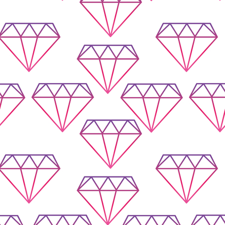 Neon line diamond precious crystal gem stone background vector illustration