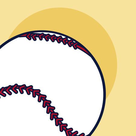 Baseball sport ball over yellow background vector illustration graphic design Illustration
