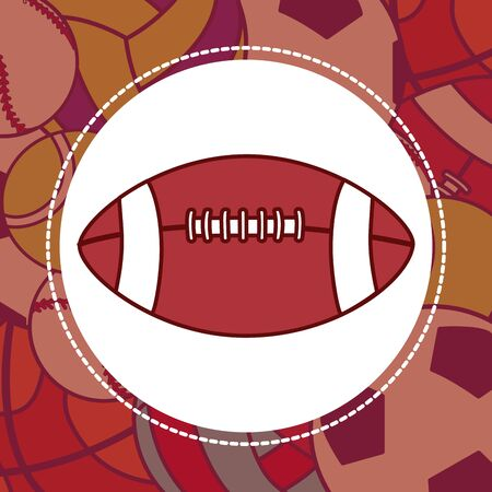 Football isolated on a different types of ball in background.