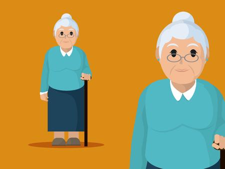 Grandmother cute cartoon