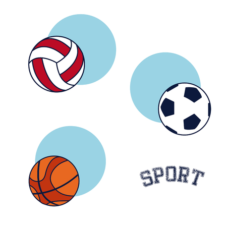 Sport equipment and accesories vector illustration graphic design