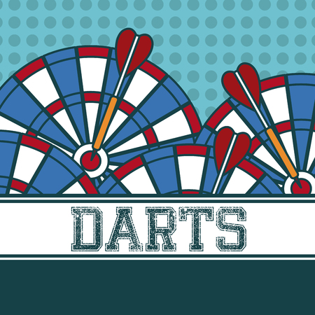 Darts sport concept vector illustration graphic design