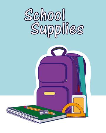 School supplies and utensils vector illustration graphic design