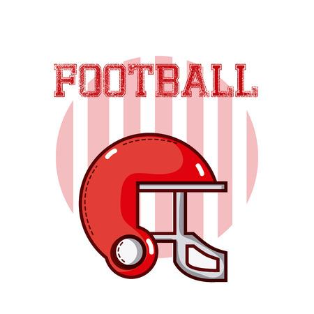 American football red design