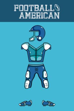 American football armour Illusztráció