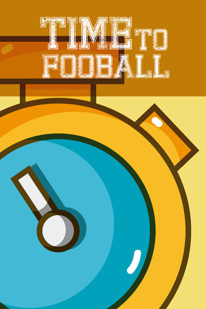 Time to football 矢量图像