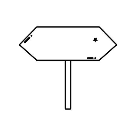 line warning metal notices traffic symbol vector illustration