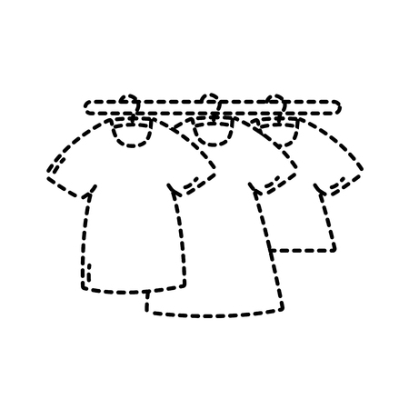 dotted shape t-shirts clothes to market commerce shopping