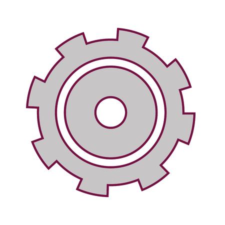 industry gear process engine machinery vector illustration Illustration