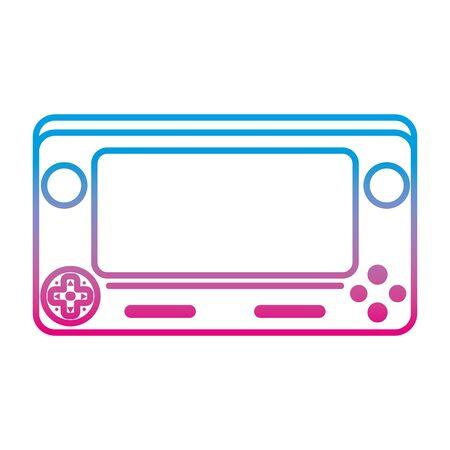 degraded line electronic videogame simulator technology console vector illustration Illustration