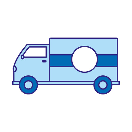 duo color truck transportation delivery service vehicle Vector illustration.