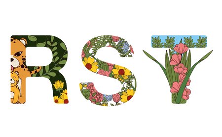 RST floral fonts letters