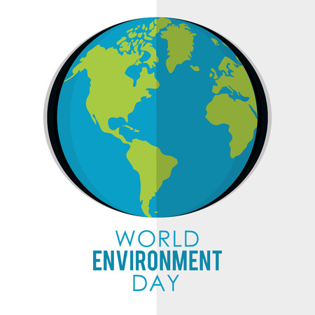 World environment day vector illustration Vektoros illusztráció