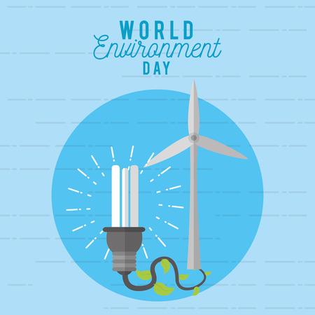 World environment day design vector illustration graphic design