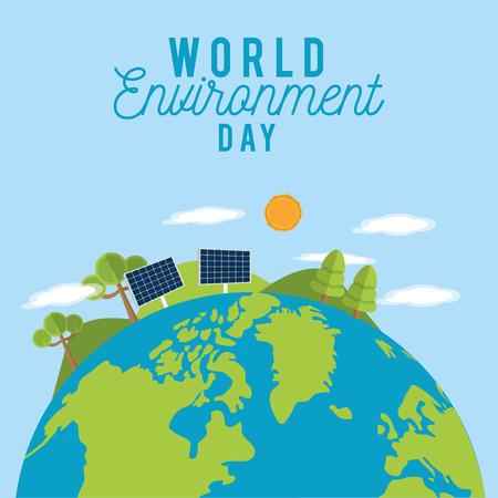 World environment day vector design