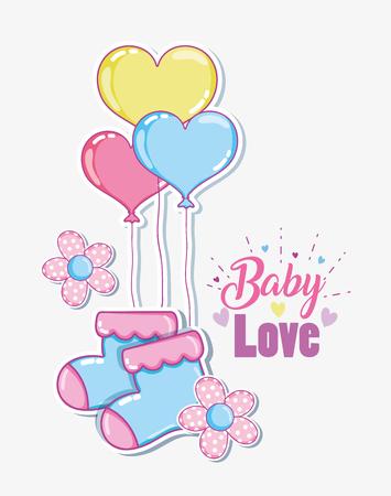 Baby love cartoons vector illustration graphic design