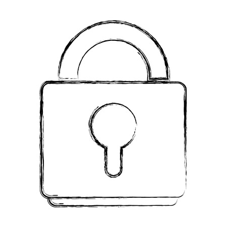 Grunge close padlock object to security symbol
