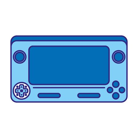 Duo color electronic video game simulator technology console  イラスト・ベクター素材