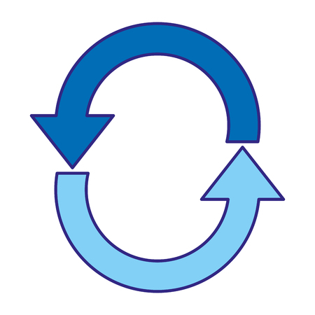 Duo color loading process web symbol icon