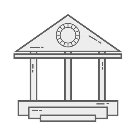 line economy bank finance with currency money Ilustração