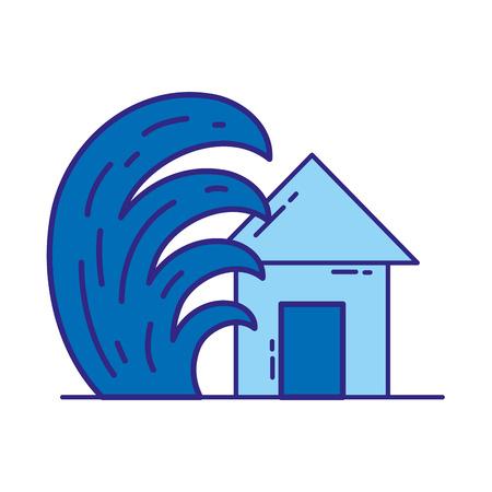duo color house seaquake tsunami nature desaster
