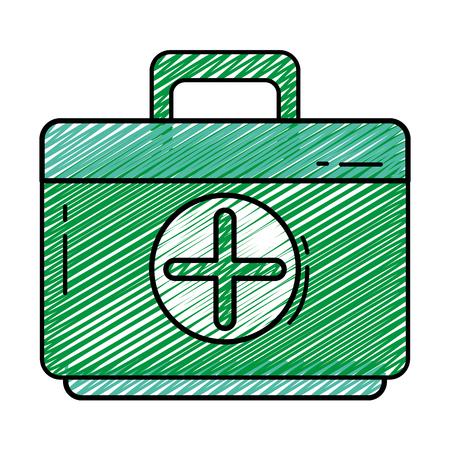 Syrup Medicine Doodle Over White Background Vector Illustration