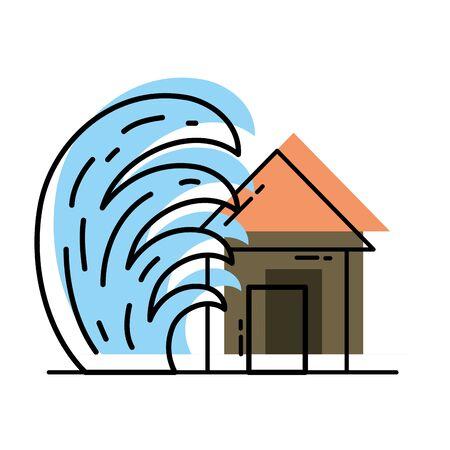 moved color house seaquake tsunami nature desaster