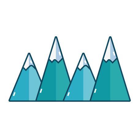 natural mountains snowy season weather