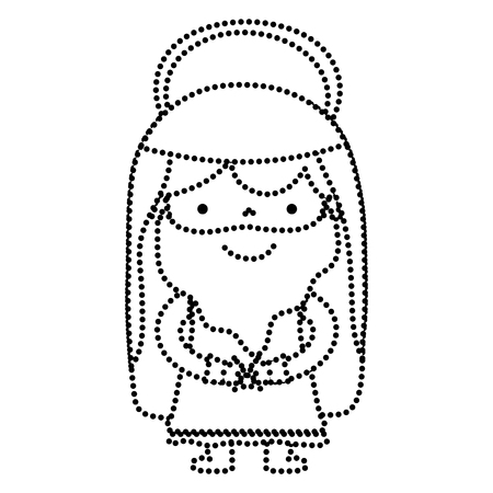 Dotted shape Jesus Christ with halo religious hope