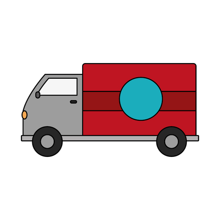 A truck transportation delivery service vehicle Illustration