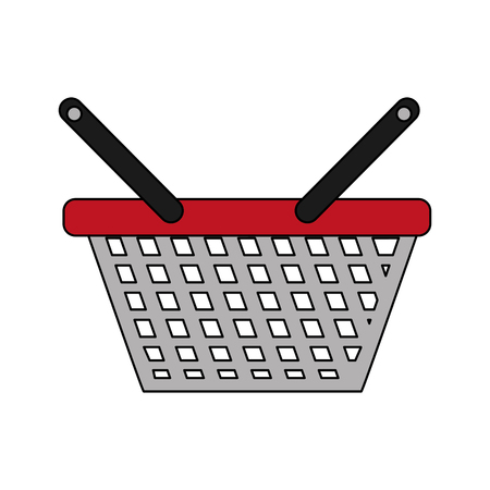 shopping basket icon to commerce market sale