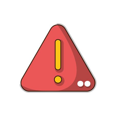 An exclamation sign emblem to danger attention