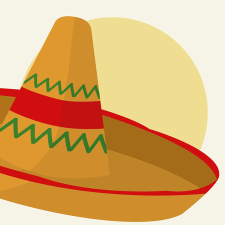 Mexican hat cartoon vector illustration Illustration