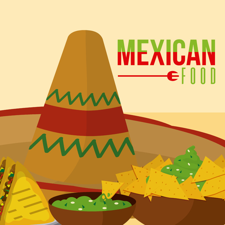 Mexican food menu card vector illustration  イラスト・ベクター素材