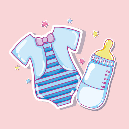 Cute shirt and baby bottle