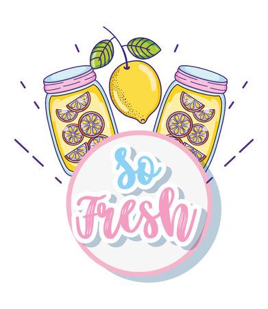 So fresh summer juice cartoon vector illustration graphic design