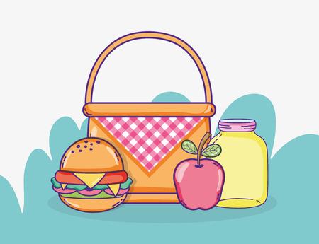 Summer food cartoons vector illustration graphic design Illustration