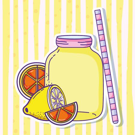Summer lemonade juice vector illustration graphic design