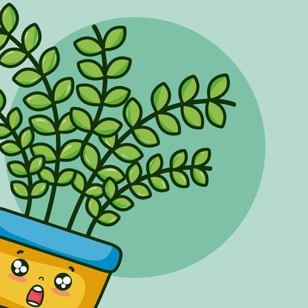 Cute houseplant cartoon vector illustration graphic design 일러스트