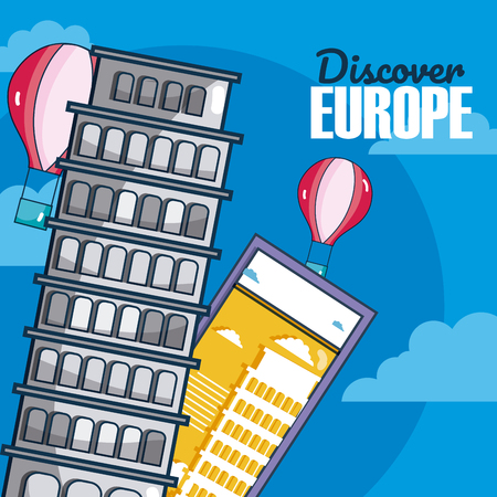 Travel and discover europe vector illustration graphic design Illustration