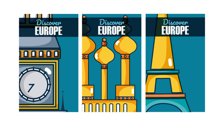 Travel and discover europe vector illustration graphic design 矢量图像