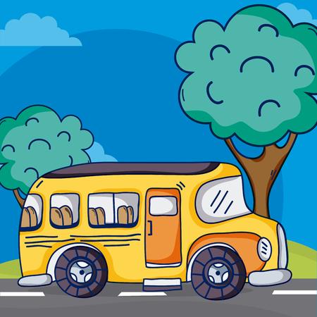 School bus on street